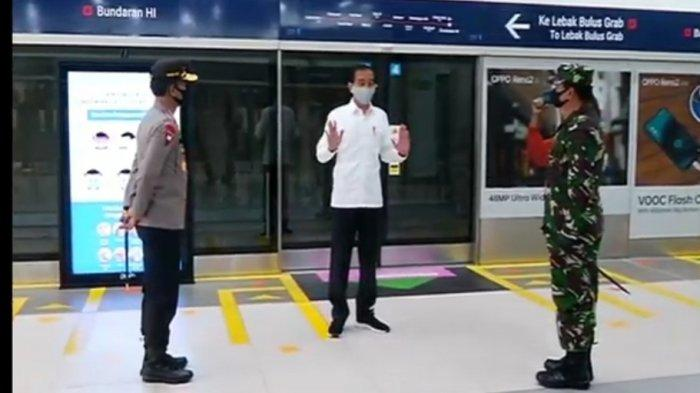 "Jokowi Langsung Cek Kesiapan ""New Normal"" di Stasiun MRT Bundaran HI Usai Lebaran"